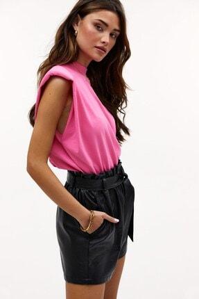 Madmext Kadın Pembe Vatkalı T-Shirt Mg900 3