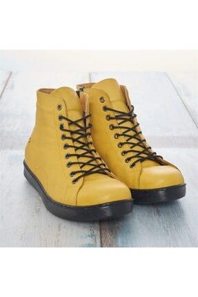LuviShoes Sarı Cilt Kadın Bot 0