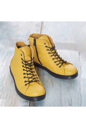 LuviShoes Sarı Cilt Kadın Bot 3