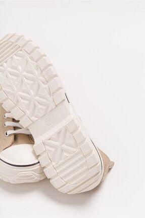 LuviShoes 1453 Ten Süet Kadın Spor Ayakkabı 4