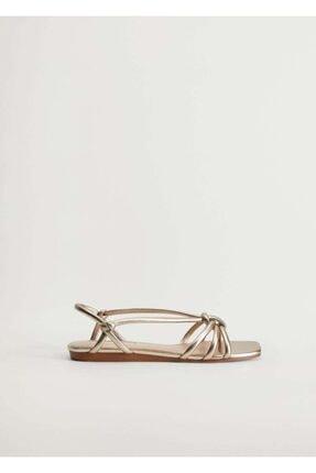 Mango Metalik Bantlı Sandalet 0