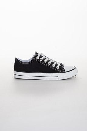 Odal Shoes Unisex Siyah Ortopedik Şeritli Sneakers Cnvrs3579746 1
