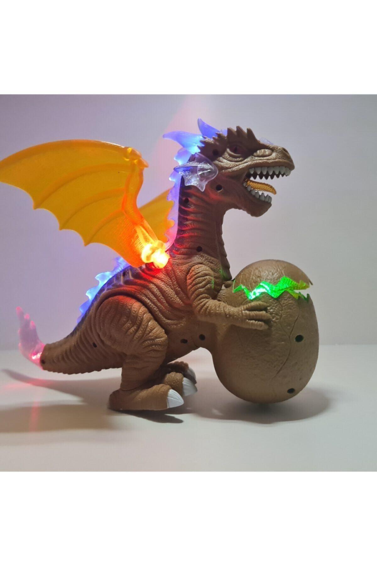 Sesli Ve Işıklı Yumurtalı Kanatlı Dragon Yürüyen Oyuncak Dinozor