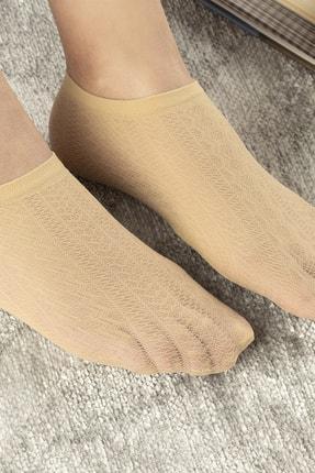 English Home Violet Kadın File Babet Çorap Ten 1