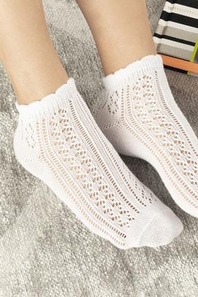 English Home Amber Pamuk Kadın Çorap Beyaz 1