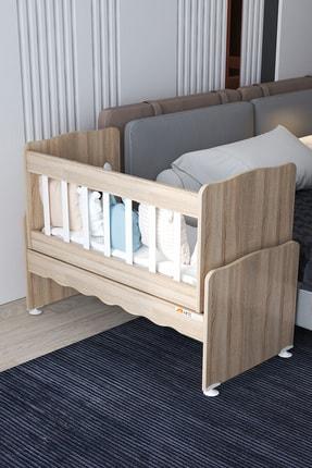Aktehome Baby Sallanır Anne Yanı Ahşap Bebek Beşiği Sonomo 0