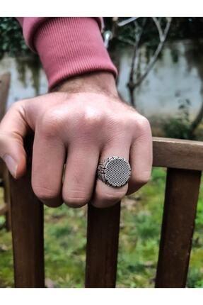 Takı&Tak Gümüş Kaplama Çukur Erkek Yamaç Ayarlanabilir Yüzük 3