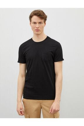Koton Erkek Siyah Bisiklet Yaka Kısa Kollu Basic Pamuklu T-Shirt 2