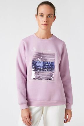 Koton Kadın Lila Sweatshirt 1KAK13681EK 2