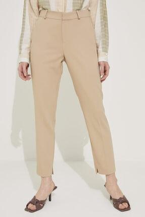 adL Kadın Camel Paçası Yırtmaçlı Cepli Pantolon 3