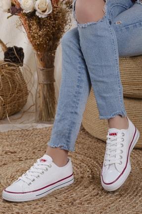 Odal Shoes Unisex Beyaz Ortopedik Şeritli Sneakers Cnvrs3579746 0