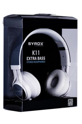 Syrox Kulaküstü Mikrofonlu Aux Kablolu Kulaklık K11 0