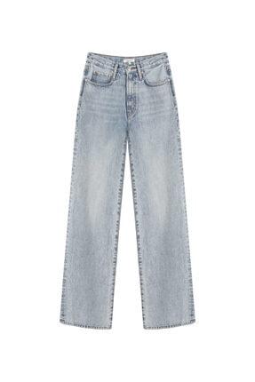 İpekyol Kadın Mavi Super High Rise Wide Leg Fit Jean Pantolon IS1210018023 4