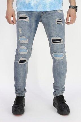 Erkek Kot Pantolon Mavi Skinny Fit Jean d108zagor