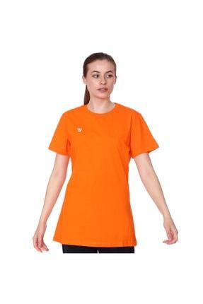 Basic Kadın Turuncu Günlük Stil Tişört Tkc100105-trn resmi