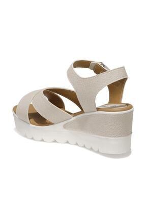 Polaris 91.308569.Z 1FX Bej Kadın Dolgu Topuklu Sandalet 101016735 2