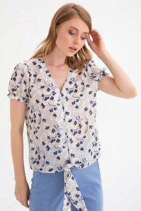 Chima Kadın Bej Önü Bağlamalı Gömlek 1