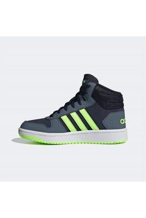 adidas Erkek Siyah Yeşil Şerit Detaylı Bağcıklı Basketbol Ayakkabısı 1