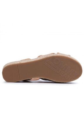 Tommy Hilfiger Kadın Kahverengi Dolgu Topuk Sandalet En0en00910-gqe 3