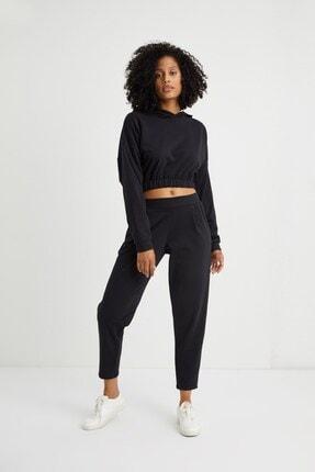 Curly Store Kadın Siyah Cepli Jogger Pantolon 0