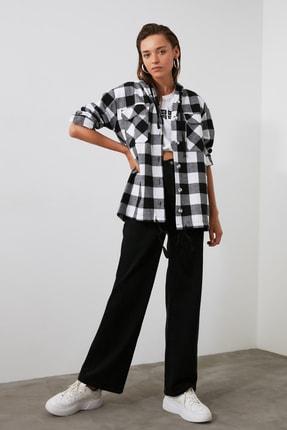 TRENDYOLMİLLA Siyah Oduncu Ekose Ceket Gömlek TWOAW21GO0158 1