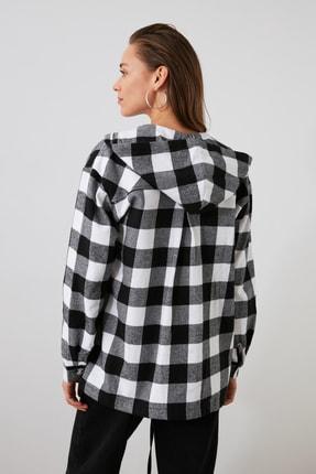 TRENDYOLMİLLA Siyah Oduncu Ekose Ceket Gömlek TWOAW21GO0158 3