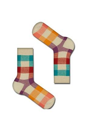 TUTKU ÇORAP Unisex Turuncu Desenli Çorap 0