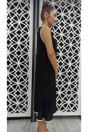 Miss Butik ve Terzi Evi Kadın Siyah Biyeli Elbise 1