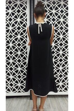 Miss Butik ve Terzi Evi Kadın Siyah Biyeli Elbise 2