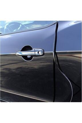 Unikum Dacia Sandero Geçmeli 3 Metre Kapı Bagaj Koruyucu Şerit 5 Mm U Tipi Siyah 1
