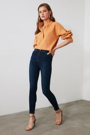 TRENDYOLMİLLA Mavi Yüksek Bel Skinny Jeans TWOAW21JE0388 1