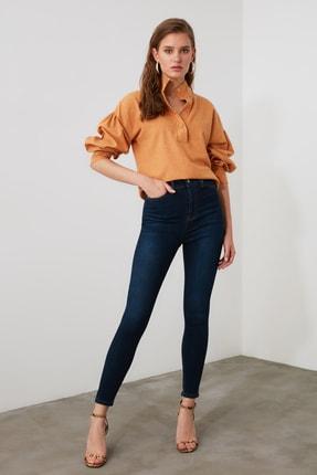 TRENDYOLMİLLA Mavi Yüksek Bel Skinny Jeans TWOAW21JE0388 2
