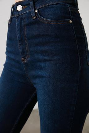 TRENDYOLMİLLA Mavi Yüksek Bel Skinny Jeans TWOAW21JE0388 3
