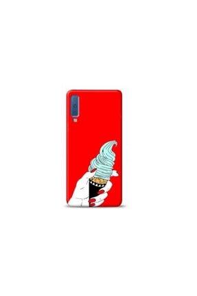 Kılıf Madeni Samsung A30s Dondurma Kırmızı Koleksiyon Telefon Kılıfı 0