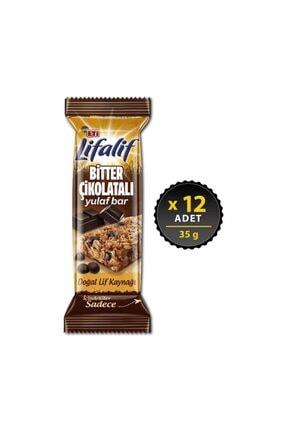 Eti Lifalif Bitter Çikolatalı Yulaf Bar 35 g x 12 Adet 0