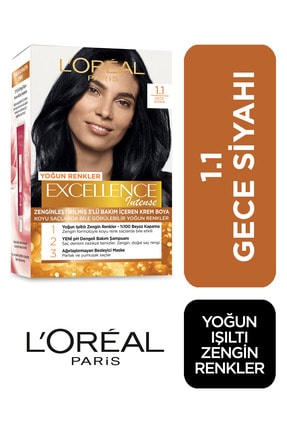 L'Oreal Paris Saç Boyası - Excellence Intense No: 1.1 Yoğun Siyah 3600522822226 0