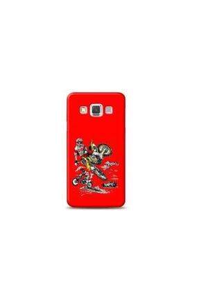 Kılıf Madeni Samsung Galaxy A3 Motorcu Kırmızı Koleksiyon Telefon Kılıfı 0