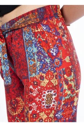 Vision Kadın Turuncu Desenli Pantolon 2