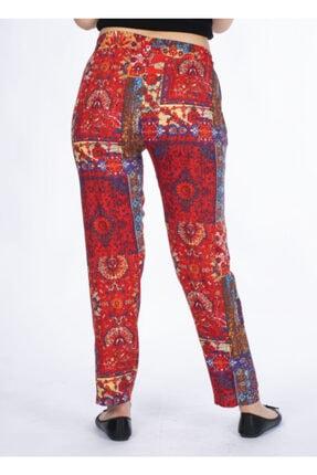 Vision Kadın Turuncu Desenli Pantolon 3
