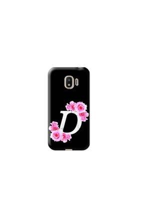 Kılıf Madeni Samsung Galaxy J2 Pro D Harfli Pembe Çicekli Tasarimli Telefon Kilifi 0
