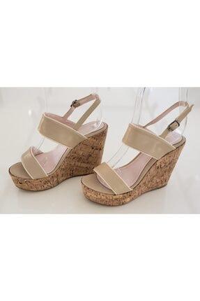 VALERIA / RM AYAKKABI Kadın Bej Dolgu Topuklu Ayakkabı 1