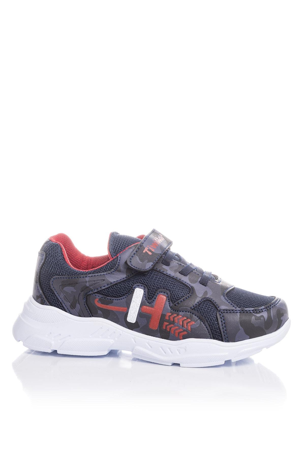 Tonny Black Erkek Çocuk Lacivert Kırmızı Sneaker TBZ13-3 2
