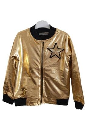 Kız Çocuk Gold Woorage Ceket Woorage Yıldızlı Ceket