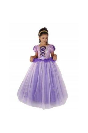 Mashotrend Pelerinli Payetli Tarlatanlı Rapunzel Kostüm 1