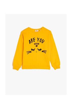 Koton Hardal Kız Çocuk Sweatshirt 0