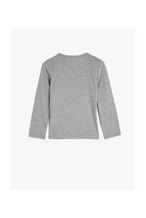 Koton Gri Kız Çocuk T-Shirt 1