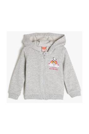Koton Kar Melanj Kız Bebek Sweatshirt 0