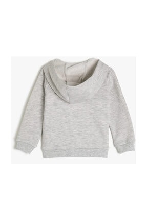 Koton Kar Melanj Kız Bebek Sweatshirt 1