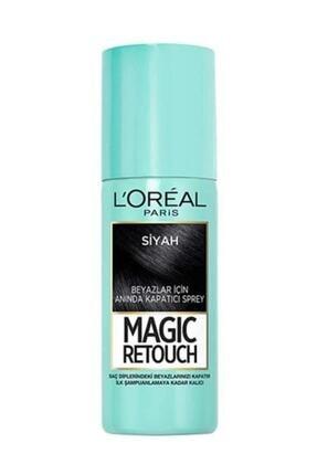 L'Oreal Paris Beyaz Saçlar Için Kapatıcı Siyah Saç Spreyi - Magic Retouch 01 Noir 75 Ml 3600523193332 0