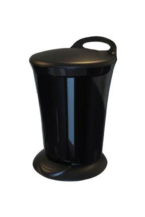 Adesign Renkli Pedallı Çöp Kovası Siyah 6 lt 0